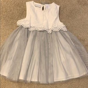Gray & White Tulle Dress (18 months)